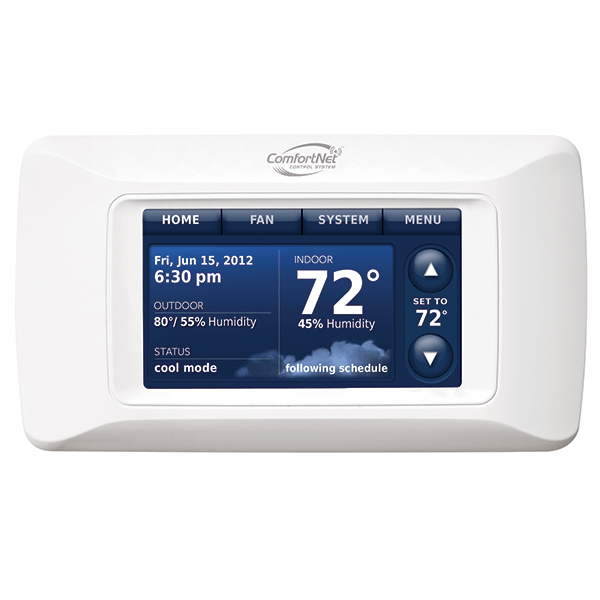 Amana ComfortNet™ CTK04 thermostat.