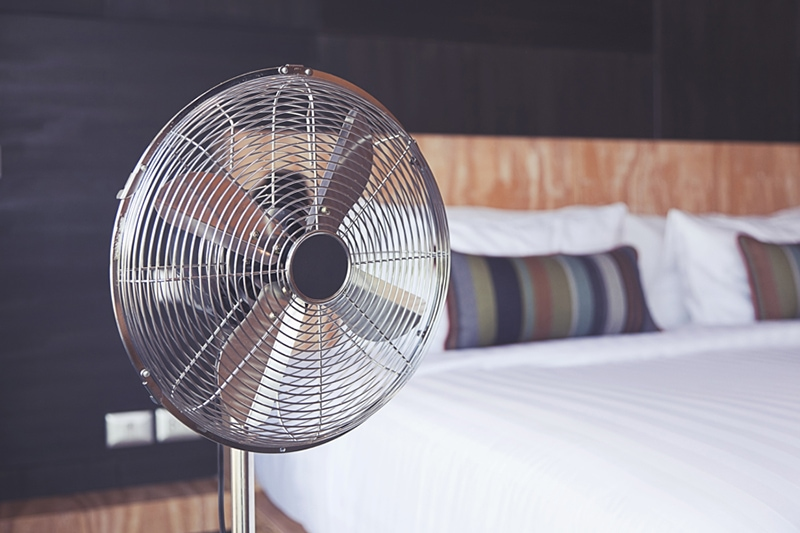 electric fan in bedroom, improve your home's indoor air quality