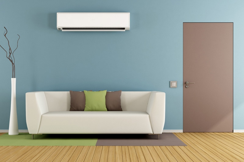 Ductless System in a Living Room