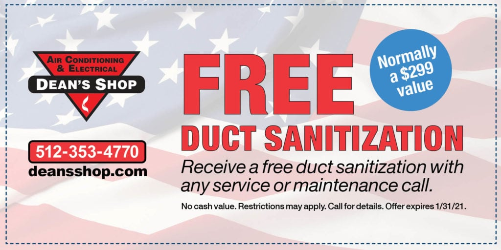 Dean's Shop Duct Sanitization Coupon